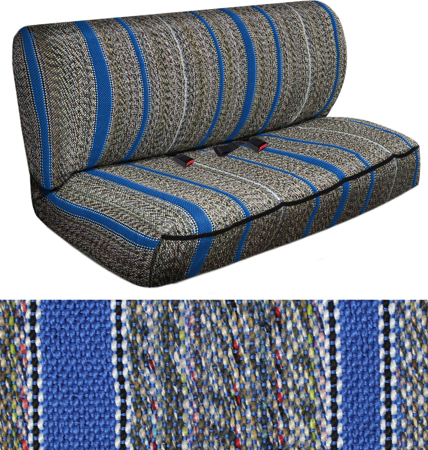 SUV Van Truck Seat Cover Blue Western Woven Saddle Blanket