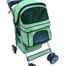 New BestPet Classic Large Green 4 Wheel Green Pet Dog Cat Stroller W/Rain Cover