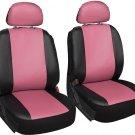 6pc Front Bucket Auto FAUX PU LEATHER CAR SEAT Detachable Headrest Cover