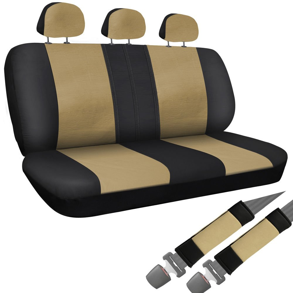 Car Seat Covers For Auto Toyota Camry 8pc Bench Set Tan