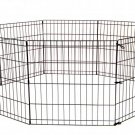 "New 24"" Tall Dog Playpen Crate Fence Pet Play Pen Exercise Cage -8 Panel- Black"