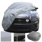 2 Layer Fitted Outdoor Car Cover Free Storage Bag Indoor