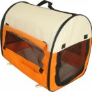 New BestPet Pet Carrier Soft Cat/Dog Travel Shoulder Bag w/Carry Case Orange