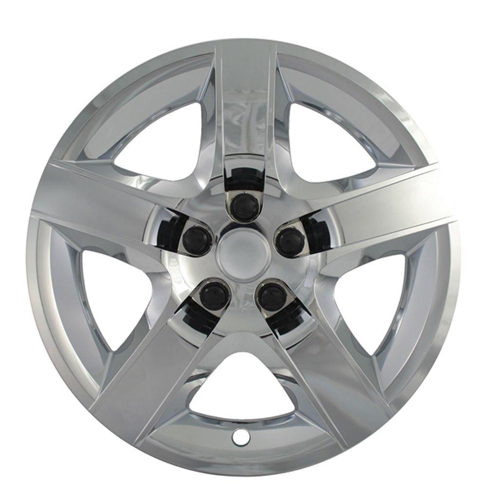 """1pc Pontiac G6 17"""" CHROME 5 Spoke Easy On Hub Cap Rim for Steel Wheel Skin Cover"""