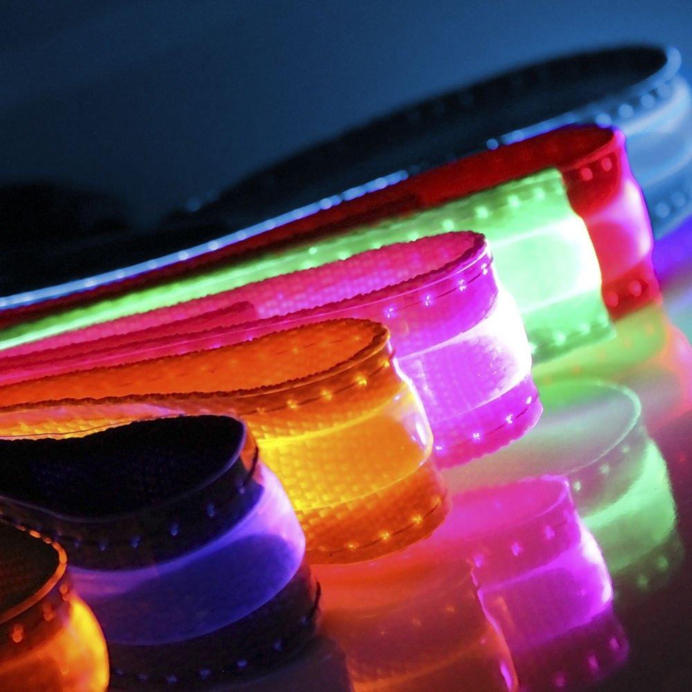 Purple Adjustable LED COLOR Light Pet Dog Cat Neck Collar Night Flashing Safety
