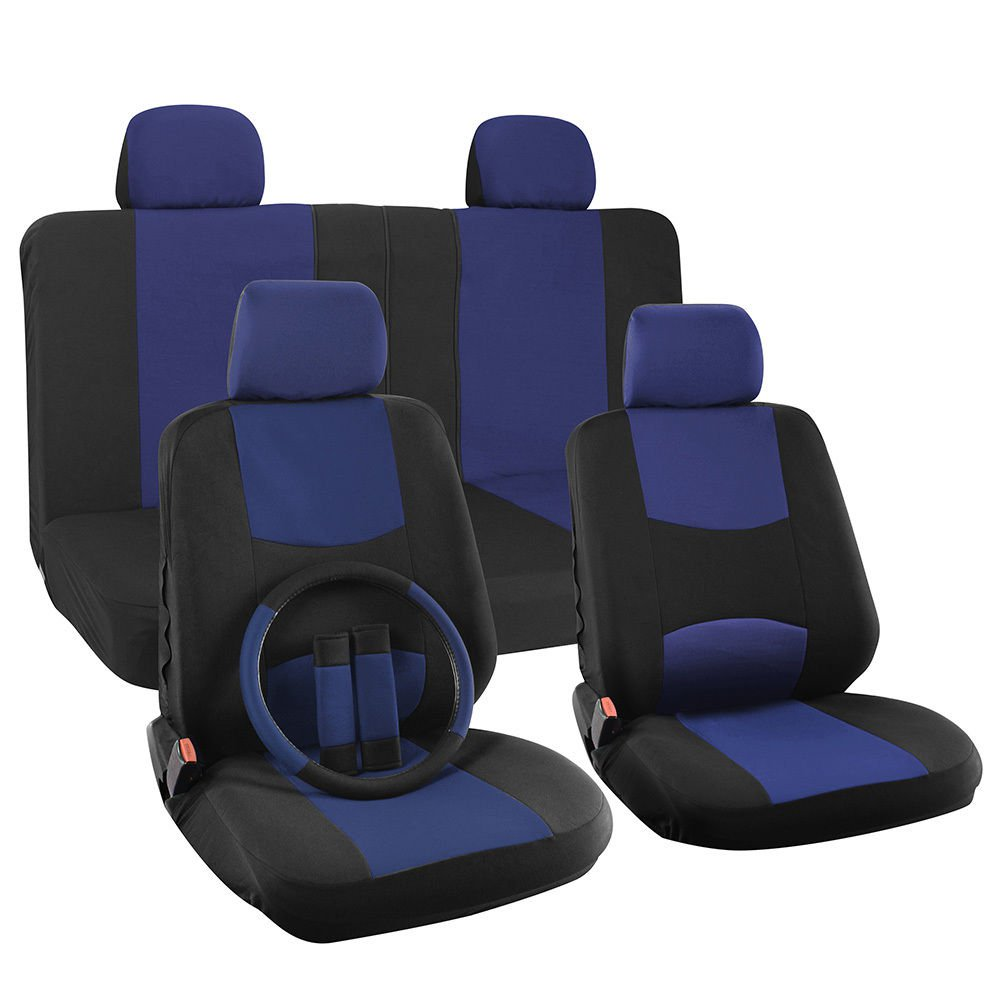 Car Seat Cover for Hyundai Sonata Solid Blue Steering ...