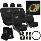 21pc Beetle Lady Bug Bucket Low Back Front Rear SET Seat Cover Mats CAR A5