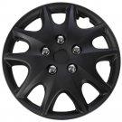 "1 Piece of 14"" Matte Black Hub Caps Full Lug Skin Rim Cover for OEM Steel Wheels"