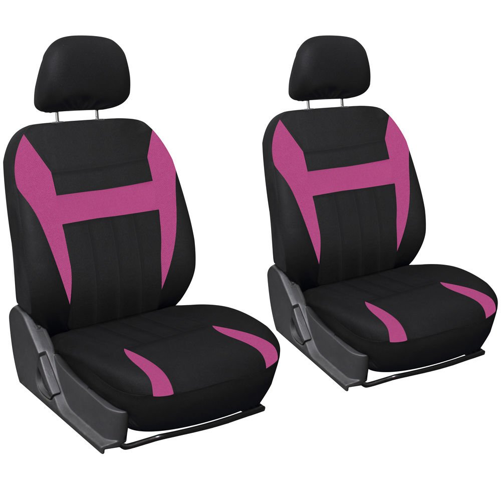 Car Seat Cover Pink Black 6pc Set Bucket For Auto W