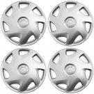 "NEW 4 Piece Set ABS Silver Fits 2003 2004 MAZDA 6 Fit 16"" Wheel Cover Hub Caps"