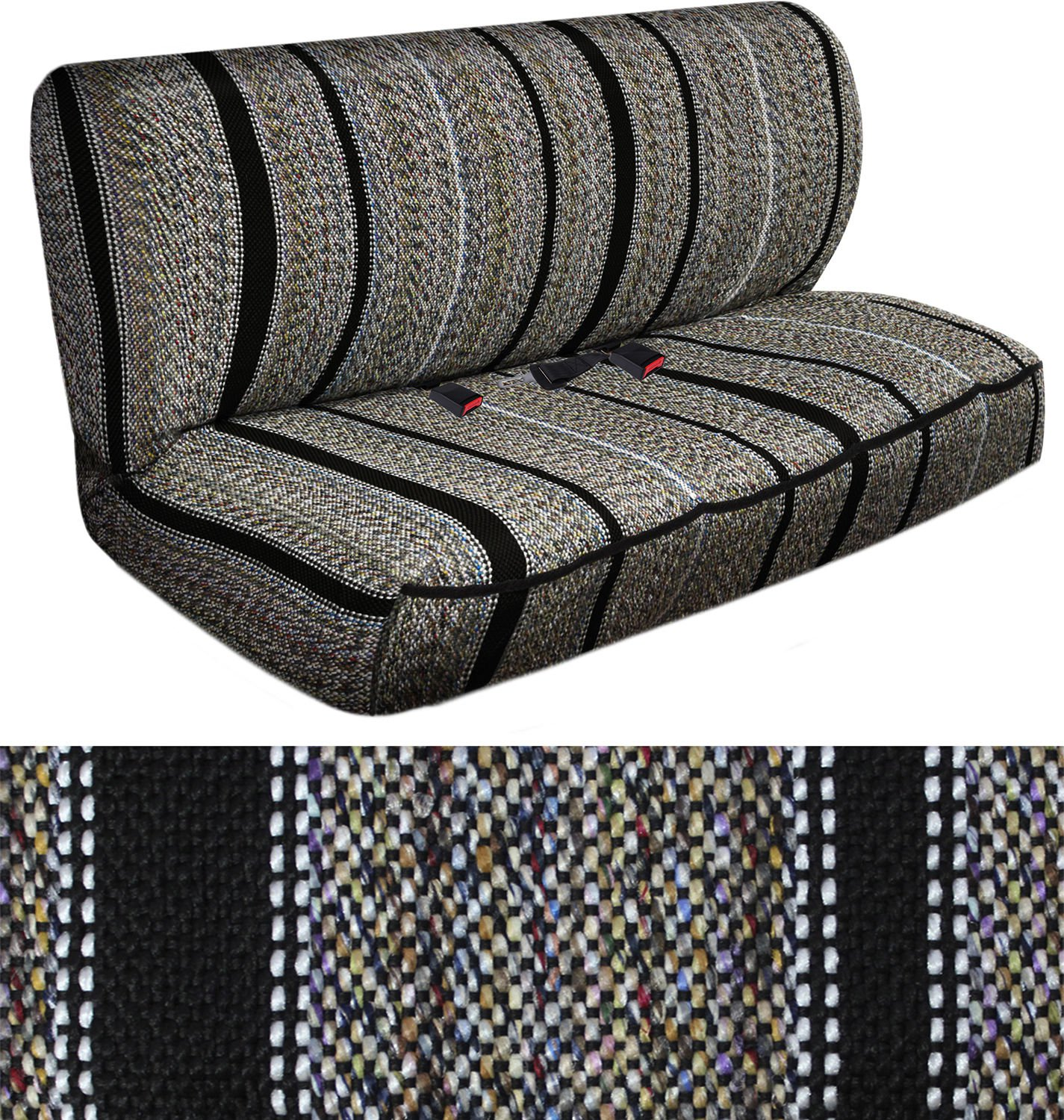 Suv Van Truck Seat Cover Black Western Woven Saddle