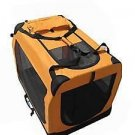 "42"" BestPet Portable Orange Pet Dog House Soft Crate Foldable"