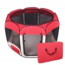 New Medium Red Pet Dog Cat Tent Playpen Exercise Play Pen Soft Crate