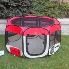 New Small Red Pet Dog Cat Tent Playpen Exercise Play Pen Soft Crate