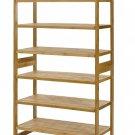 100% Natural Bamboo 6-Tier Shoe Rack Entryway Shoe Shelf Storage Organizer