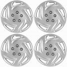 "4 Piece Set Fits 1996 1997 1998 1999 2000 DODGE CARAVAN 15"" Wheel Hub Cap Silver"