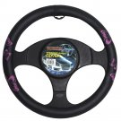 """Pink Black Butterfly Rubber Steering Wheel Cover for Car Truck Van SUV 15"""" Fit"""
