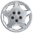 "1pc Chevy Cavalier Snap On CHROME 14"" Hub Cap 5 Spoke A/M Steel Wheel Skin Cover"