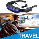 "52"" VR 3D Smart Video Glasses Personal Theater Digital Eyewear 4GB w/ Headset"