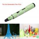 3D Printing Drawing Pen Crafting Modeling Filament Arts Printer Tool Gift Green