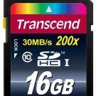 Transcend 16 GB Class 10 SDHC 30mb/s 200X Flash Memory Card New