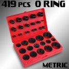 419 PCS Universal O-Ring Assortment Set Metric Oil Proof Kit 32 Size O Ring Case