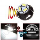 10x T5 White Neo Wedge SMD LED Light Instrument Cluster Panel Lamps Gauge Bulbs