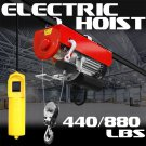 New 880LB Cable Hoist Lift Power Overhead Electric Motorized Ceiling Shop Industrial
