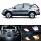 6x Xenon White LED Interior Light Bulbs Package Set Kit For 2007-2012 Honda CRV