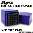 """New 36-PC 1/8"""" 4MM Metal Punch Stamps Capital Letter Number Marking Jewelry DIY"""