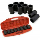 """New 9pc 3/4"""" Shallow MM Impact Sockets HD Size 26mm 38mm Mechanic Wrench Tools"""