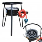 New Single Gas Stove Propane Burner Large BBQ LPG Cast IronStand Outdoor Camping