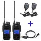 2x Retevis RT3 UHF 400-480MHz DMR Digital Two Way Radio + Cable + 2x PTT Mic