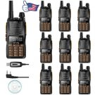 10x Baofeng GT-5 VUHF Ham FM Dual PTT Two-way Radio Handheld Walkie Talkie