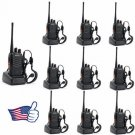 10x Baofeng BF-888S UHF 400-470MHz Handheld Two-way Ham Radio Walkie Talkie