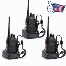 3x Baofeng BF-888S UHF 400-470MHz Handheld Two-way Ham Radio HT Walkie Talkie