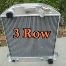 For 3 Row Ford 1932 hot rod w/Chevy 350 V8 engine Aluminium radiator