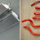 Aluminum Radiator & hose for HONDA CR500 CR500R 1991-2001 91 92 93 94 95 96 97