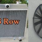 For CHEVY BEL AIR V8 W/COOLER 55-57 1955 1956 1957 Aluminum Radiator & Fan