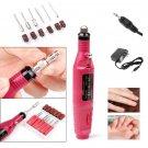 New Nail File Drill Kit Electric Manicure Pedicure Acrylic Portable Salon Machine