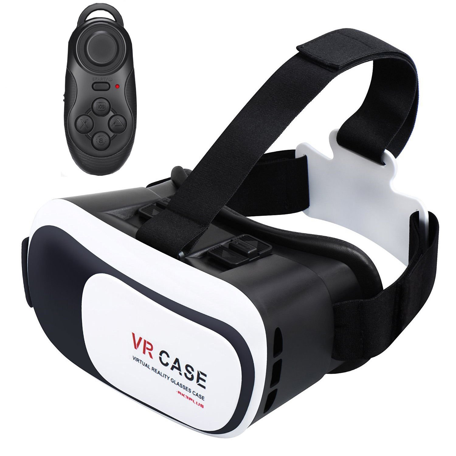 New Virtual Reality VR Headset 3D Glasses With Remote for Android IOS iPhone Samsung