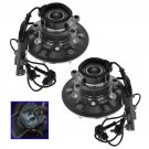Wheel Hub & Bearing Front Set Pair for Chevy Truck 4WD 4x4