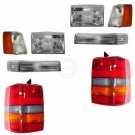 New Headlights & Parking Corner Lights & Taillights Set Kit for 97-98 Grand Cherokee