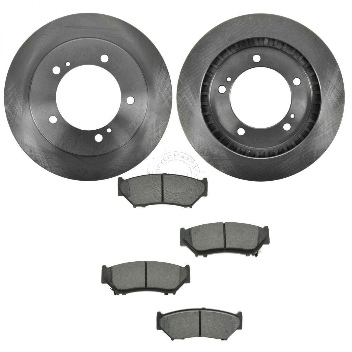 Brake Rotor Material : Nakamoto front brake rotors semi metallic pad kit set