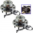 New Front Wheel Hub & Bearing LH & RH Pair Set for Dodge Ram 1500 2500 3500 4x4 4WD