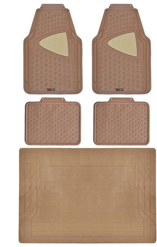 Odorless rubber floor mats for car truck suv w cargo liner for 1 piece floor mats trucks