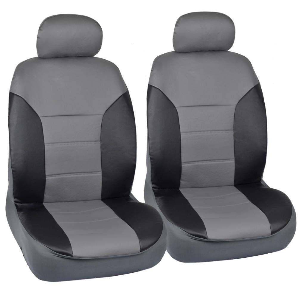 oem ford fusion fitted seat covers black gray 2 tone pu leather. Black Bedroom Furniture Sets. Home Design Ideas