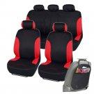 Original Car Seat Covers Red Fit for Sedan SUV Race Rome w Organizer Kick Mat