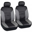 OEM Honda Accord Sedan Coupe Fitted Seat Covers Black Gray 2 Tone PU Leather