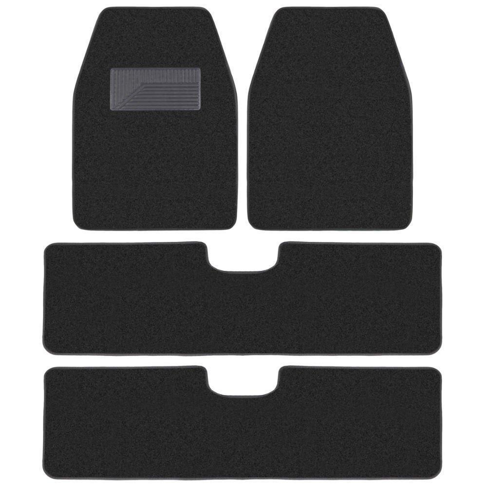 3 Row Best Quality Carpet Floor Mats For SUV Van Black 4 PCs